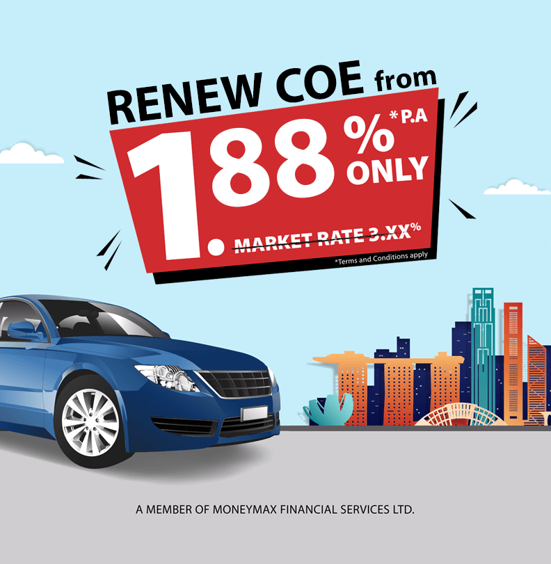 COE Renewal Loan from 1.88% Renew COE Loan